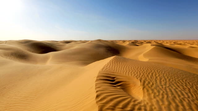 Sahara Desert near Grand Erg Oriental , Tunisia , Africa