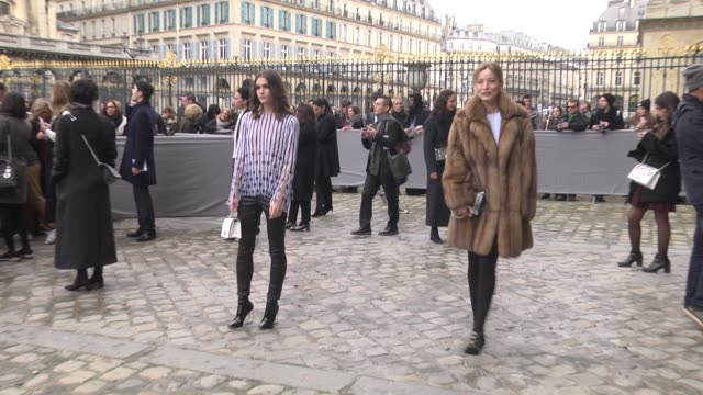 Sai Bennett and Lucie de La Falaise attend the Christian Dior show as part of the Paris Fashion Week Womenswear Fall/Winter 2016/2017 on March 4 2016...