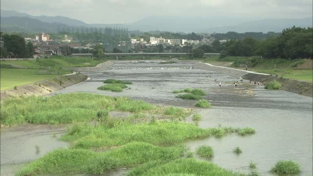 sai river in kanazawa, japan - satoyama scenery stock videos & royalty-free footage
