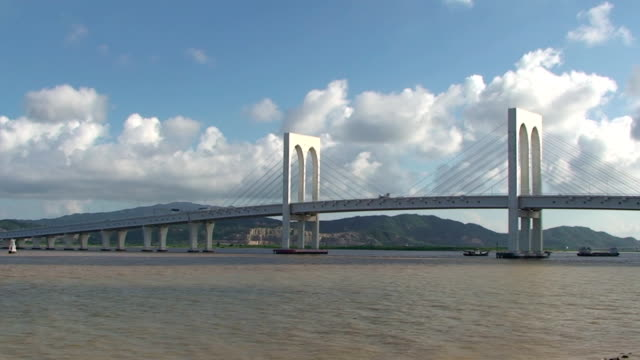 sai van bridge - macau, china - macao stock videos & royalty-free footage