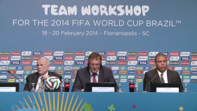 fifa said friday that brazil was working flatout to deliver the world cup on time but warned that much work lay ahead before the june 12 kickoff... - südbrasilien stock-videos und b-roll-filmmaterial