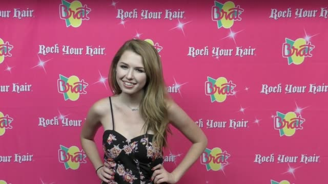 saige ryan campbell at the rock your hair presents - rock back to school concert and party at avalon on september 30, 2017 in hollywood, california. - moderne rockmusik stock-videos und b-roll-filmmaterial