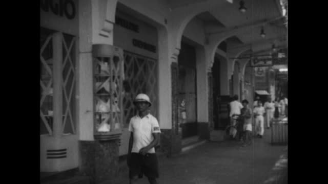 Saigon prepares a shopping district for air raids before the Japanese Invasion of Southern French Indochina