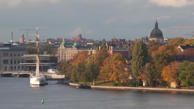 Sail boat docked on Skeppsholmen Island