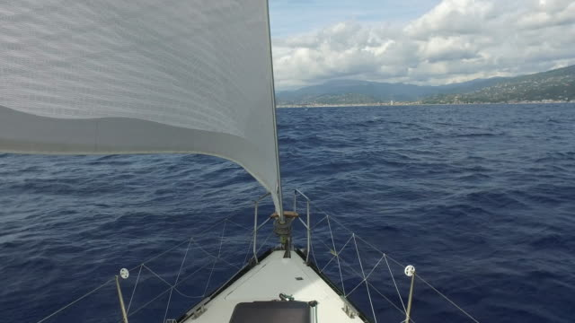 Sail boat in the Mediterranean sea
