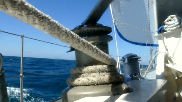 Sail management on a racing yacht
