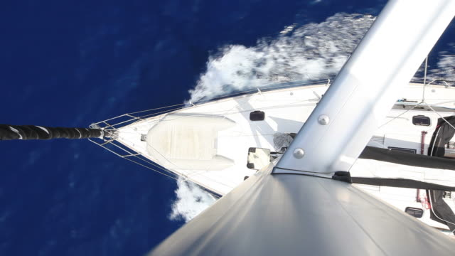 hd: sailboat from above - sailing boat stock videos and b-roll footage