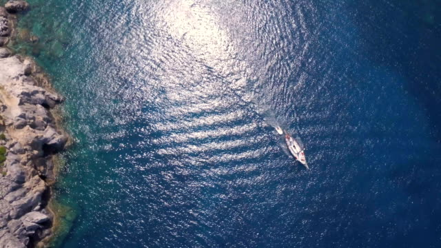 sailboat from above - mast sailing stock videos & royalty-free footage