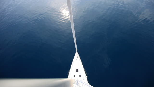hd: sailboat from top of the mast - regatta stock videos & royalty-free footage