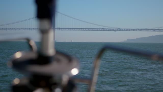 sailboat in lisbon - nautical vessel video stock e b–roll