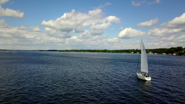 Sailboat on a Lake in Excelsior Minnesota