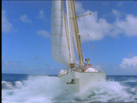 sailboat on ocean - cinematography stock videos & royalty-free footage