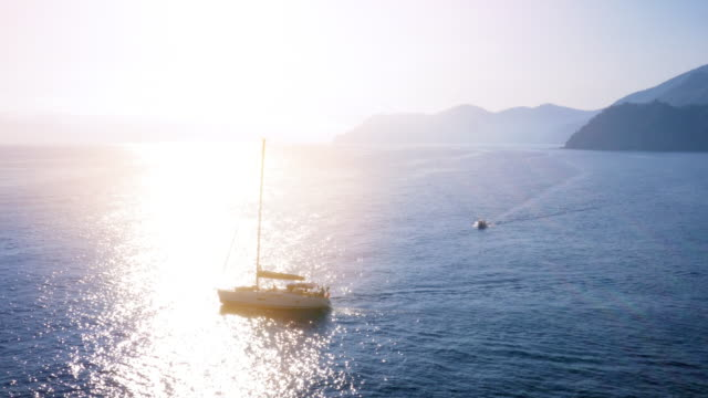 sailboat travelling the mediterranean in summer - cruising stock videos & royalty-free footage