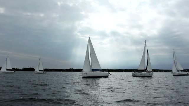 sailboat - regatta stock videos & royalty-free footage