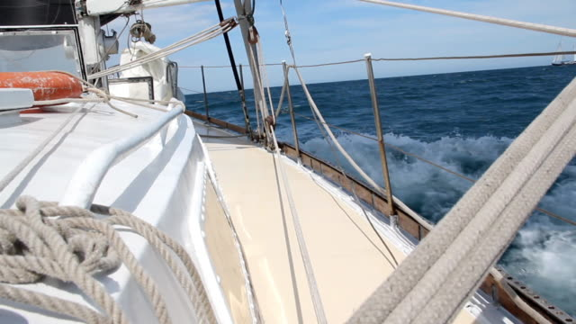 sailboat - recreational boat stock videos & royalty-free footage