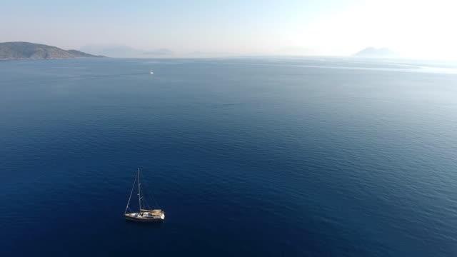sailboat - anchored stock videos & royalty-free footage