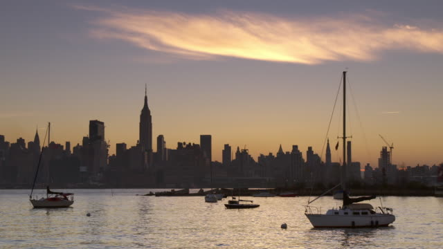sailboats anchored in the hudson river - anchored stock videos & royalty-free footage