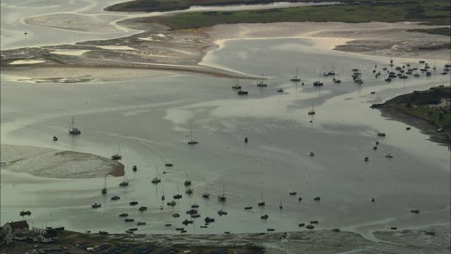 AERIAL Sailboats at Gurnard Bay / Isle of Wight, United Kingdom