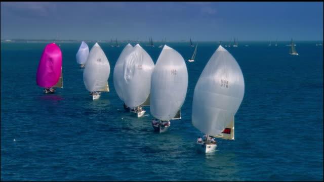 CS, Sailboats in ocean, Key West, Florida, USA