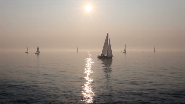 sailboats on sea - baltic sea stock videos and b-roll footage