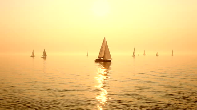 sailboats on sea - sailing boat stock videos and b-roll footage