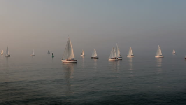 Sailboats on Sea