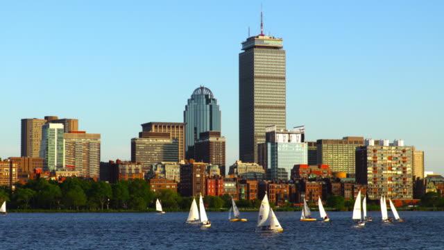 Sailboats on the Charles River in Boston, Massachusetts