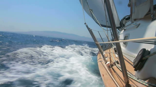 hd: sailing against the wind - yacht stock videos & royalty-free footage