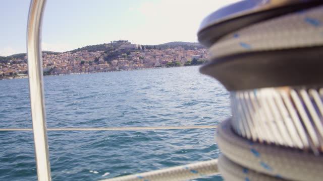 WS Sailing along coast of Sibenik