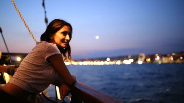 sailing at night - fantasia video stock e b–roll