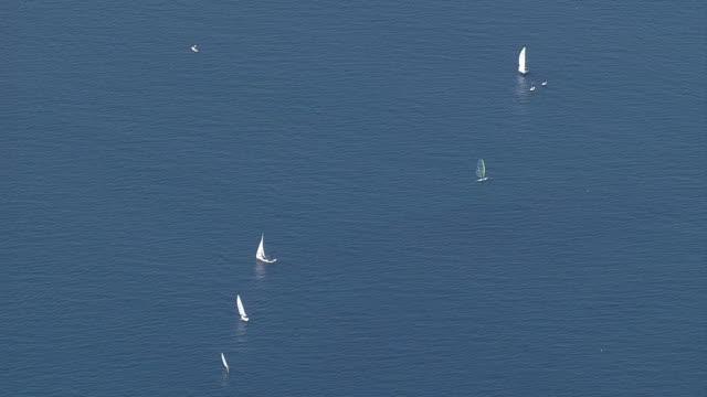 AERIAL, Sailing At Sagami Bay, Kanagawa, Japan