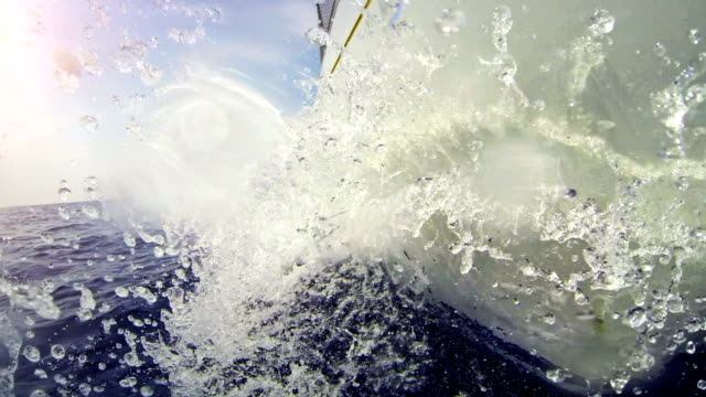 sailing boat bow during cruise - ship's bow stock videos and b-roll footage