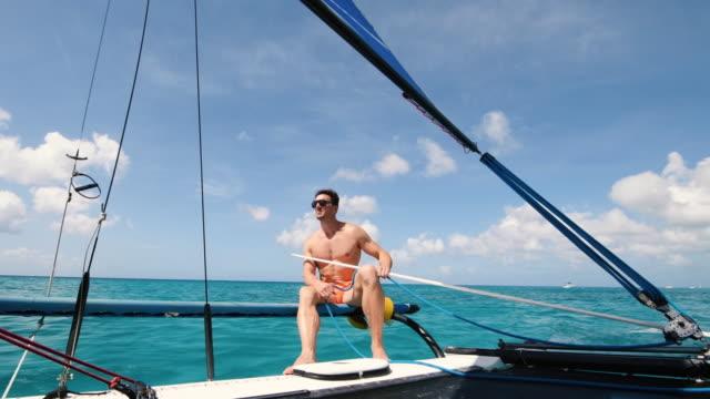 sailing boat - kryssa bildbanksvideor och videomaterial från bakom kulisserna
