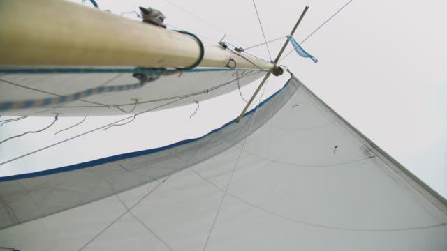 barca a vela - direzione video stock e b–roll