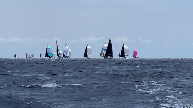 sailing boats compete during a leg of the 39th copa del rey mapfre sailing cup at real club nautico on august 02, 2021 in palma de mallorca, spain. - contestant stock videos & royalty-free footage
