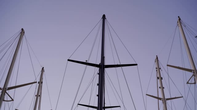 sailing boats in marina - anchored stock videos & royalty-free footage