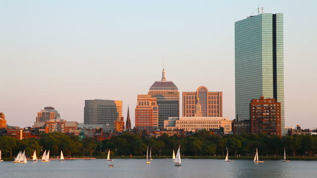 sailing boston, masssachusetts - back bay boston stock videos & royalty-free footage