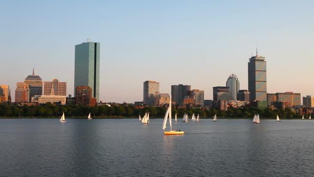 sailing boston, masssachusetts - back bay boston stock videos & royalty-free footage