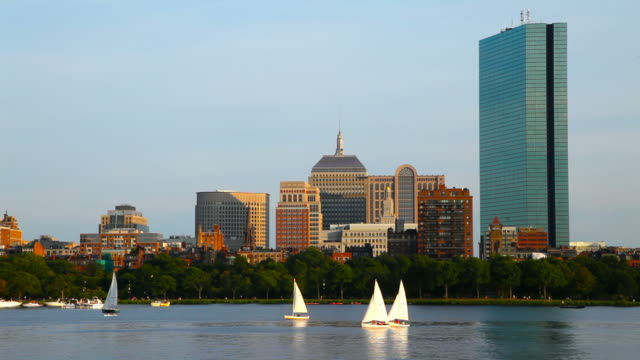 sailing in boston - back bay boston stock videos & royalty-free footage