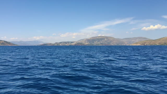 sailing in saronic gulf - view of attic peninsula from the sea - view into land stock videos & royalty-free footage