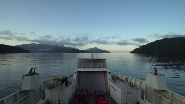 sailing in the fjords of southern chile - ferry stock videos & royalty-free footage