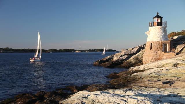 vidéos et rushes de voile de newport - rhode island