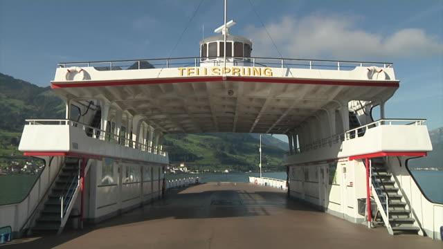 sailing on lake lucerne - lake lucerne stock videos & royalty-free footage