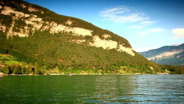sailing on lake thun - lake thun stock videos and b-roll footage