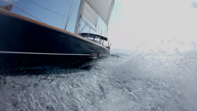 sailing on rough sea - rough stock videos & royalty-free footage