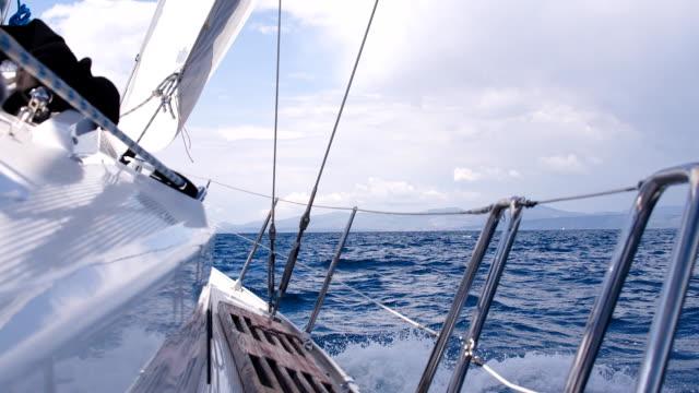SLO MO Sailing On Rough Sea