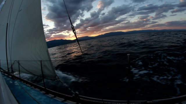 sailing race after sunset - rigging nautical stock videos & royalty-free footage
