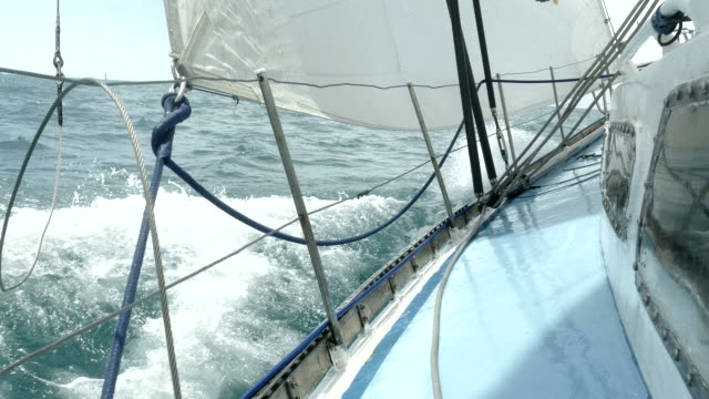 sailing race in a storm - rigging stock videos & royalty-free footage