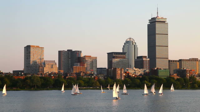 sailing the charles river, boston - river charles stock videos & royalty-free footage