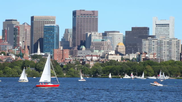 Sailing the Charles River, Boston